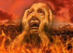 Man crying in hell